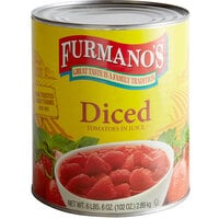 Furmano's #10 Can Diced Tomatoes with Juice - 6/Case