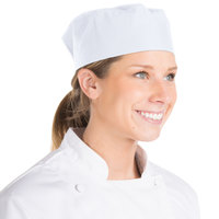Chef Revival Customizable White Mesh Top Baker's Skull Cap / Pill Box Hat - Regular Size
