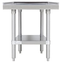 Advance Tabco ES-242 24 inch x 24 inch Stainless Steel Equipment Stand with Stainless Steel Undershelf