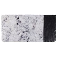 Elite Global Solutions M714RCSM Horizon Slate 14 1/4 inch x 7 inch Faux Slate and Marble Rectangular Serving Board