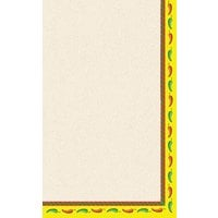 8 1/2 inch x 11 inch Menu Paper - Southwest Themed Mariachi Design Right Insert - 100/Pack