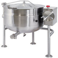 Cleveland KDL-60-TSH Short Series 60 Gallon Tilting Full Steam Jacketed Direct Steam Kettle