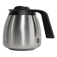 Bunn 51746.0001 64 oz. Stainless Steel Economy Thermal Carafe - Black Top