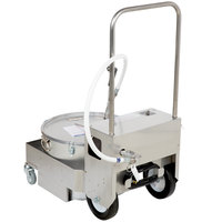 MirOil BD707 75 lb. Fryer Oil Electric Filter Machine and Discard Trolley