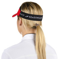 Headsweats Red Customizable CoolMax Chef Visor