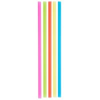 Choice 7 3/4 inch Jumbo Neon Unwrapped Soda Straw   - 250/Box