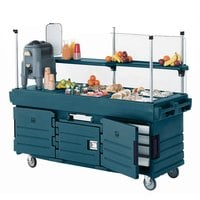 Cambro KVC854192 CamKiosk Granite Green Vending Cart with 4 Pan Wells