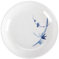 Thunder Group 102.8BB Blue Bamboo 2 oz. Round Melamine Sauce Dish - 60/Case