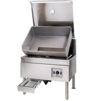 Cleveland SEL-40-TR 40 Gallon DuraPan Electric Open Base Tilt Skillet - 240V, 3 Phase, 18 kW