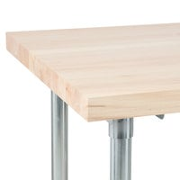 Advance Tabco TH2G-306 Wood Top Work Table with Galvanized Base - 30 inch x 72 inch
