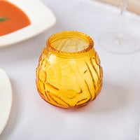 Sterno 40118 4 1/8 inch Amber Venetian Candle - 12/Case