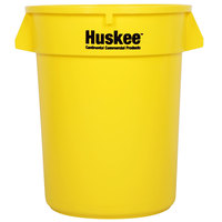 Continental 3200YW Huskee 32 Gallon Yellow Round Trash Can