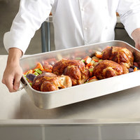Vollrath 68252 Wear-Ever 17.875 Qt. Aluminum Baking and Roasting Pan with Handles - 24 inch x 14 inch x 3 1/2 inch
