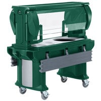 Cambro VBRHD5519 Green 5' Versa Food / Salad Bar with Heavy-Duty Casters