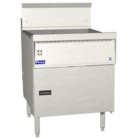 Pitco FBG18-SSTC Natural Gas 42-65 lb. Flat Bottom Floor Fryer with Solid State Thermostatic Controls - 100,000 BTU