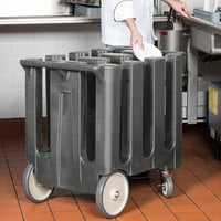 Cambro DC700191 Poker Chip Granite Gray Dish Dolly / Caddy with Vinyl Cover - 6 Column
