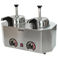 Paragon 2029C Pro-Deluxe Dual 3 Qt. Warmer with 2 Heated Spouts - 120V, 1034W