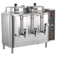 Cecilware FE100N 3 PHASE Twin 3 Gallon Automatic Coffee Urn - 120/208/240V