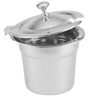 Vollrath 8261710 Miramar® Hinged Cover with Chrome Knob for 10 Qt. 8231220 Stainless Steel Soup Inset