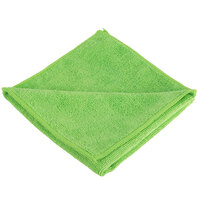 Knuckle Buster MFMP16GN 16 inch x 16 inch Green Microfiber Cleaning Cloth - 12/Pack