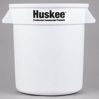 Continental 1001WH Huskee 10 Gallon White Round Trash Can