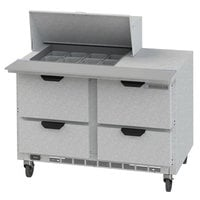 Beverage-Air SPED48HC-12M-4 48 inch 4 Drawer Mega Top Refrigerated Sandwich Prep Table