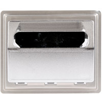 Vollrath 6525-28 Stainless Steel In-Counter Fullfold Napkin Dispenser with Chrome Faceplate