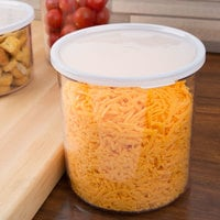 Cambro CCP27152 2.7 Qt. Clear Round Crock with Lid