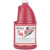 Noble Chemical 1 Gallon / 128 oz. Clog B-Gone Drain Opener Maintainer   - 4/Case