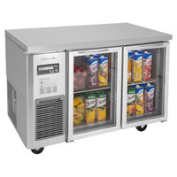 Turbo Air JUR-48-G-N J Series 48 inch Glass Door Undercounter Refrigerator with Side Mounted Compressor
