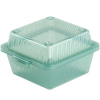 GET EC-08 4 3/4 inch x 4 3/4 inch x 3 1/4 inch Jade Green Customizable Reusable Eco-Takeouts Container - 24/Case