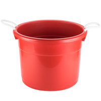 Continental 8119RD Huskee Red Tub with Rope Handles - 17 inch x 16 3/4 inch