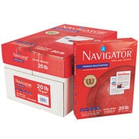 Navigator NMP1120 8 1/2 inch x 11 inch White Case of 20# Premium Multipurpose Paper - 5000 Sheets