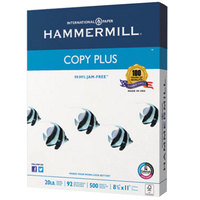 Hammermill 105007 8 1/2 inch x 11 inch Copy Plus White Case of 20# Copy Paper - 5000 Sheets