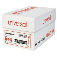 Universal Office UNV91200 8 1/2 inch x 11 inch White Case of 20# Copy Paper - 5000 Sheets