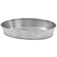 Tablecraft GPSS129 Brickhouse 12 inch x 9 inch Oval Stainless Steel Platter