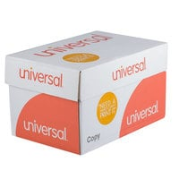 Universal Office UNV21200 8 1/2 inch x 11 inch White Case of 20# Copy Paper - 5000 Sheets