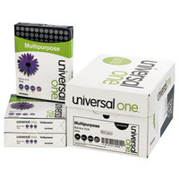 Universal Office UNV95200 8 1/2 inch x 11 inch White Case of 20# Multipurpose Paper - 5000 Sheets