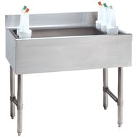 Advance Tabco CRI-12-48-10 Stainless Steel Underbar Ice Bin with 10-Circuit Cold Plate - 48 inch x 21 inch