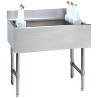 Advance Tabco CRI-16-30-10 Stainless Steel Underbar Ice Bin with 10-Circuit Cold Plate - 30 inch x 21 inch