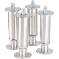 Manitowoc K-00153 4 5/8 inch Adjustable Stainless Steel Flanged Feet - 4/Set
