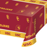 Creative Converting 330558 54 inch x 108 inch University of Southern California Plastic Table Cover - 12/Case