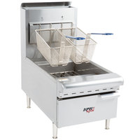 APW Wyott APW-F25C NAT Natural Gas 25 lb. Countertop Fryer - 60,000 BTU