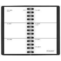 At-A-Glance 7003505 2 1/2 inch x 4 1/2 inch Black January 2021 - December 2021 Weekly Pocket Planner