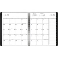 At-A-Glance 70260X05 8 7/8 inch x 11 inch Black January 2021 - December 2021 Contemporary Monthly Planner