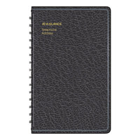 At-A-Glance 8001105 4 7/8 inch x 8 inch Black Telephone / Address Book