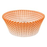Ateco 6436 2 inch x 1 1/4 inch Orange Striped Baking Cups - 200/Box