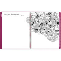 At-A-Glance 589905 Floradoodle 9 3/8 inch x 11 3/8 inch Professional January 2021 - January 2022 Weekly / Monthly Appointment Book