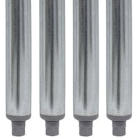 Advance Tabco SU-11A 18 inch Galvanized Steel Legs - 4/Set