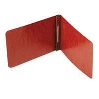 Acco 11038 8 1/2 inch x 5 1/2 inch Red Pressboard Report Cover with Prong Fastener
